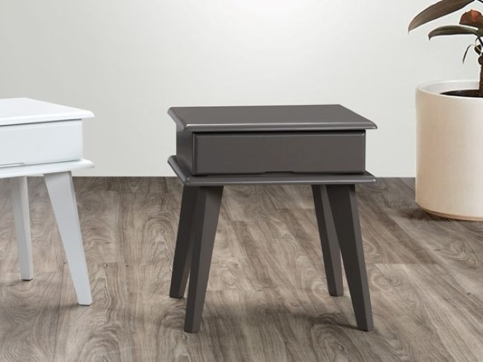 Room with Modern Kids Bedroom Furniture containing Ari Grey Bedside Table or Nightstand with Hardwood Frame
