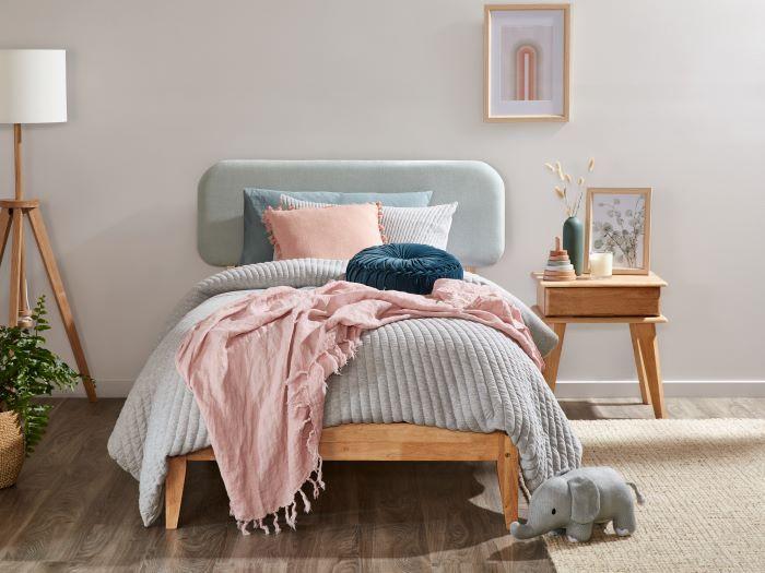 Room with Modern Toddler Bedroom Furniture containing Aspen Hardwood Single Bed Frame