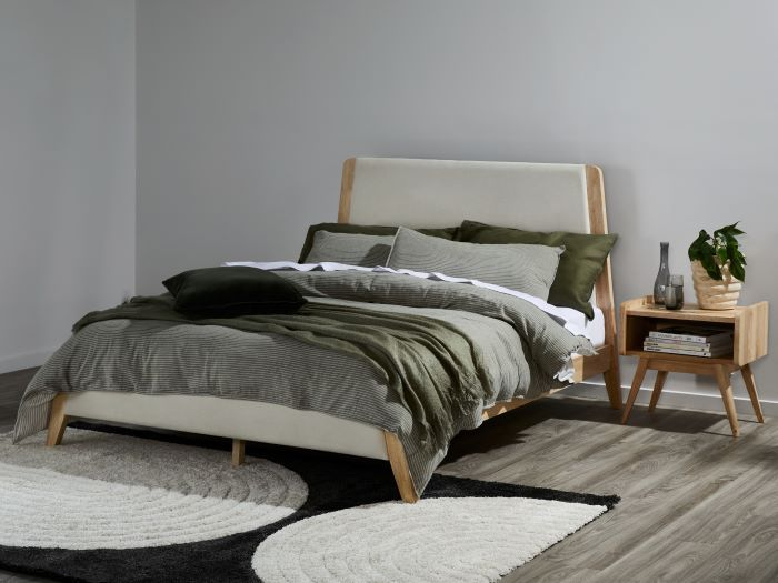 Room with Modern Bedroom Furniture containing Finn Double Size Bedroom Suite built with Natural Hardwood Frames
