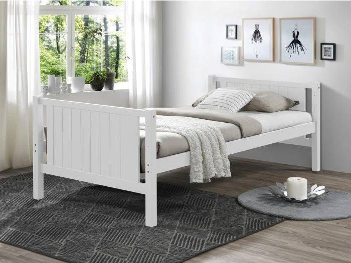 Rear view of room with modern kids bedroom furniture containing Myer White Single Bunk Bed with Storage Drawers