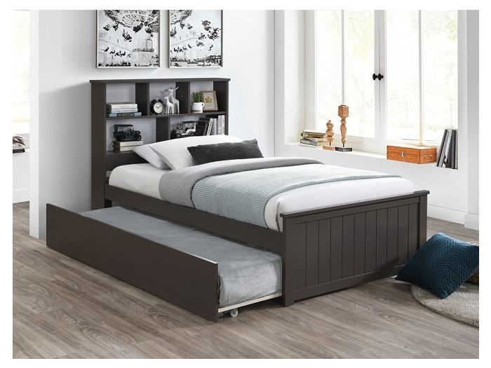 Room with Modern kids Bedroom Furniture containing Myer King Single Bed with trundle in Grey