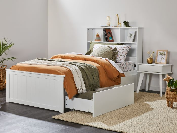 Room with Modern kids Bedroom Furniture containing Myer 4PCE White King Single Bedroom Suite with Storage