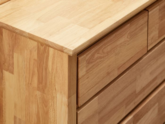 Close up of Room with Modern Bedroom Furniture containing Myer Low Chest of Drawers built with natural hardwood timber
