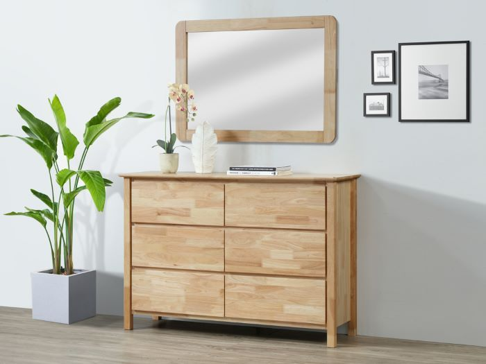 Room with Modern Bedroom Furniture containing Myer dressing table with mirror or dresser built with natural hardwood timber