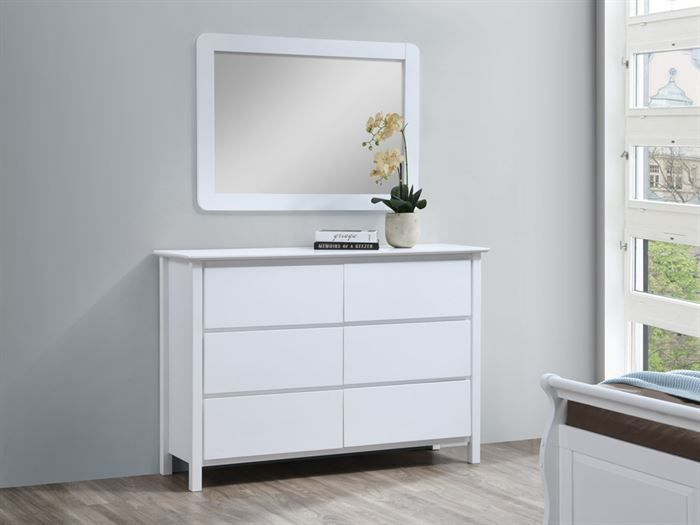 room with modern bedroom furniture containing Myer White Dressing Table with Mirror or Dresser