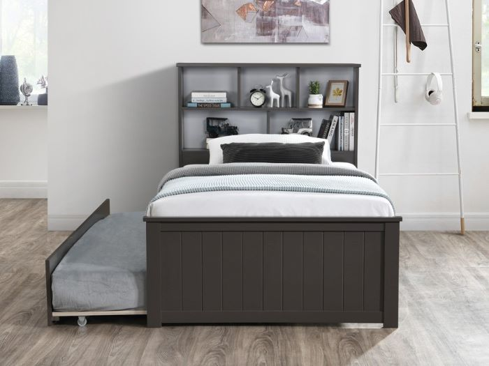 Room with Modern Toddler Bedroom Furniture containing Myer 3PCE Grey Single Bedroom Suite with trundle