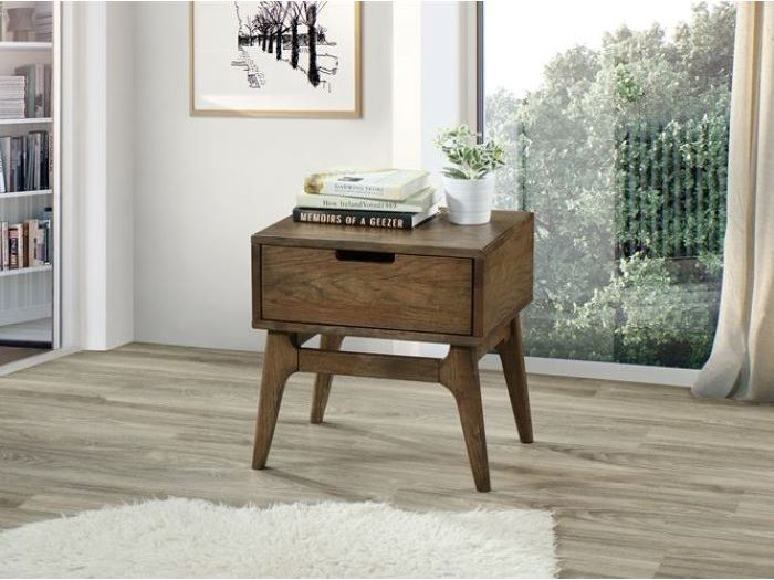 Close up of Room with Modern Bedroom Furniture containing  Paris 4PCE Hardwood Queen Size Bedroom Suite with rustic finish