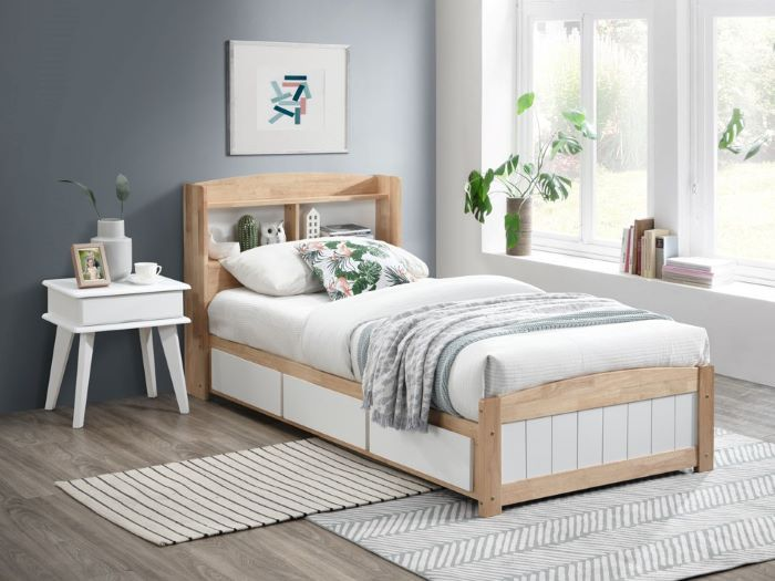 Room with Modern Toddler Bedroom Furniture containing Rio 9PCE Hardwood Single Bedroom Suite with Storage built with Hardwood Frame