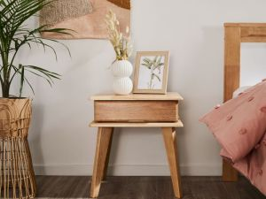 Ari Bedside Table | Natural Hardwood