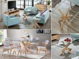 Bella 12PCE Home Living & Dining Furniture Package | Natural Hardwood | Aqua