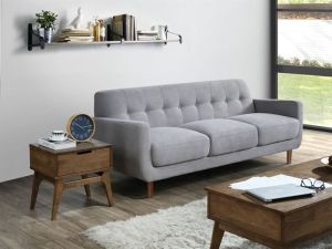 Bella Three Seater Sofa | Couch | Grey Fabric