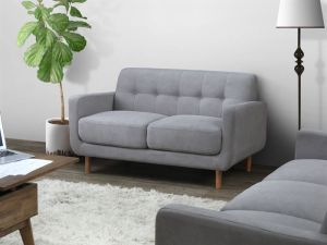 Bella Two Seater Sofa | Couch | Grey Fabric