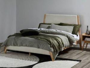 Finn Double Size Bed Frame | Natural Hardwood