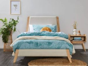 Finn King Single Bed Frame | Natural Hardwood