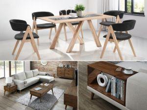 Gaudi 12PCE Home Living & Dining Furniture Package | Hardwood | Black