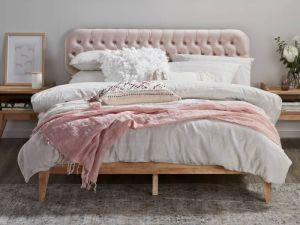 Halo Double Bed Frame | Natural Hardwood