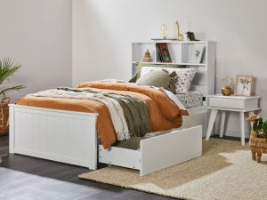 Myer 4PCE White King Single Bedroom Suite | Storage