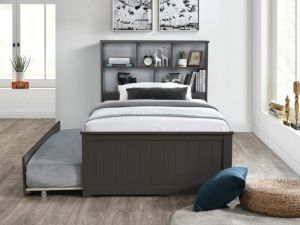 Myer 3PCE Grey King Single Bedroom Suite | Trundle