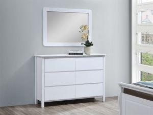 Myer White Dressing Table with Mirror | Hardwood Frame