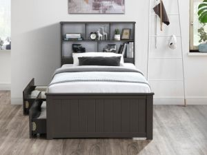Myer 4PCE Grey Single Bedroom Suite | Storage