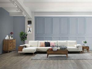 Paris Modular Sofa Series | L-Shape Extension Sofa with Left Chaise | Beige Fabric