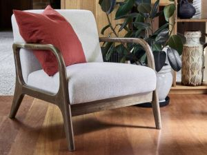 Paris Beige Occasional Chair | Walnut | Hardwood Frame