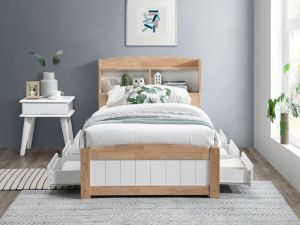 Rio Toddler Single Storage Bed | Hardwood Frame
