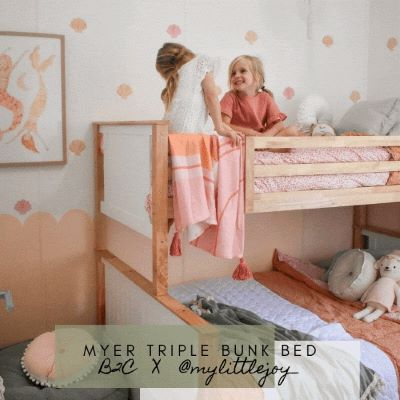 How To Optimise Space In Your Kids Bedroom with Bunk Beds | B2C Furniture x My Little Joy